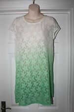 New Ladies Happy Holly Dress Size 40/42 UK 12-14 Floral Lace Sheer Tunic