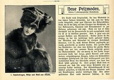 Neue Pelzmoden auf der Suche nach Orginalität Rauchwerk Historische Mode v.1910