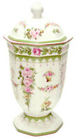 Victorian Rose Design Ceramic Jar with Lid - 26cms - AU Shop