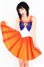 LIVING DEAD CLOTHING Sailor Moon Venus Kleid Skater Dress Cosplay XS Halloween