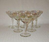 Bryce Iridescent Lustre Stem 325 Optic Champagne Glasses with Twist Stem (6)