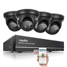 SANNCE 8CH 1080N H264 DVR QR APP Outdoor Home Office View Security Camera System