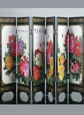 Chinese Lacquer work Hand Painted Flowers Rich Screen D616