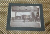Antique Photograph Bound Brook NJ Explosion Downtown Store 1900 Lawyer Voorhees