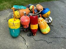 Lot of 10 Lobster Trap Buoys From Maine