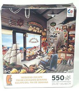 Ceaco Tanikawa Weekend Escape Puzzle Joe & Roy Bait Shop 550 Pieces Sealed New