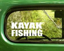 2 Kayak Fishing Decals Sticker For Car Window Bumper Laptop Jeep Rv