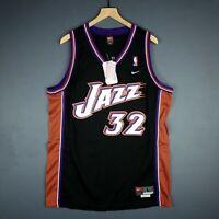 612119dd4c9 100% Authentic Karl Malone Vintage Nike Jazz Swingman Jersey Size L 44 Mens