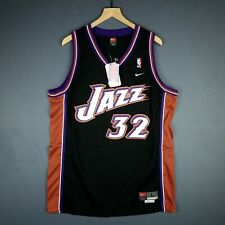 95abc38a150d 100% Authentic Karl Malone Vintage Nike Jazz Swingman Jersey Size L 44 Mens