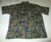 Tori Richard Authentic Hawaiian Shirt Men's Lg 100% Cotton Lawn Made in Hawaii
