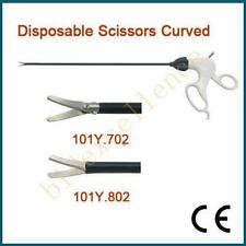 Disposable Scissors Curved ø5x330mm Laparoscopy Medical Endoscope Equipment FDA