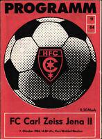DDR-Liga 84/85 HFC Chemie - FC Carl Zeiss Jena II, 07.10.1984