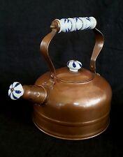 Antique copper teapot with Delft handle