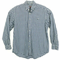 Vineyard Vines Tucker Shirt Blue Gingham Mens L Large Long Sleeve Shep Ian WHALE