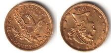 GOLD 5 Dollars 1905 USA - seltene Originalmünze - B64