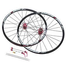 26'' 24H Disc Brake Wheel Mountain Bicycle MTB Wheelset Hubs Rim Front Rear V6D3