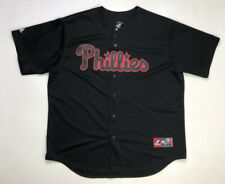 Majestic Philadelphia Phillies Ryan Howard 6 Baseball Jersey Men's XL Black