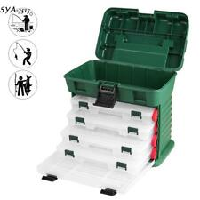 5 Tackle Drawers Box Fishing Supplies Tools Lure Large Storage Container