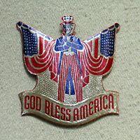 Vintage Sticker -- God Bless America