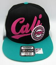 CALIFORNIA REPUBLIC Snapback Cap Hat CALI Bear Flag Black Teal Pink Caps Hats