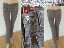 Esprit Jeans Five Girl Regular Straight Leg Low Hip Pattentasche Stretch Grau 34