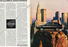 PUBLICITE ADVERTISING 064  1982  VOLVO 345  GLS    ( 2 pages)