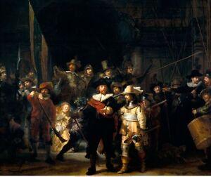 The Night Watch by Rembrandt van Rijn, Civic Guard Militia Fine Art Giclee Print