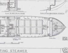 STANDARD COASTING STEAMER MODEL BOAT SHIP BUILDING PLANS HAROLD UNDERHILL