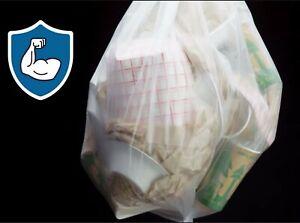 "33 Gallon Extra Heavy Duty 50 Count Trash Bags 16 Micron 33"" x 40"" High Density"