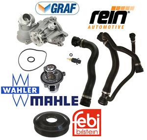 OEM Water Pump Thermostat Pulley Upper Lower Hose Sensor Kit BMW V8 750i 750Li