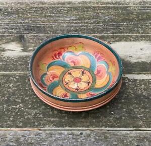 Antique Norwegian Bowl Rosemaling Norway Scandinavian Norge
