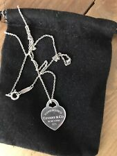 Tiffany And Co Silver Heart Necklace Classic Silver 925
