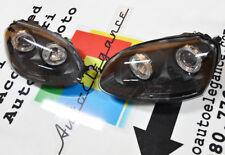 FARI ANTERIORI ANGEL EYES A LED CAMBUS FANALI NERI VW GOLF 5 2003-2008 NO ERROR