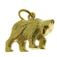 GOLD POLAR BEAR CHARM. HALLMARKED 9 CARAT GOLD POLAR BEAR CHARM