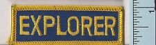 One New Law Enforcement Explorer Police Shoulder Patch Embroidered California