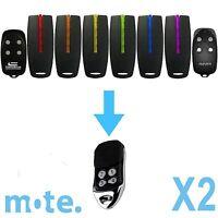 2 x Avanti/Superlift/Centurion TX4/MPS CompatibleGarage Door Gate Remote Control