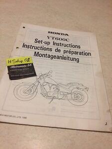 Honda VT600C Custom Shadow 600 VT600 VT Instrucciones Preparación Set - Hasta