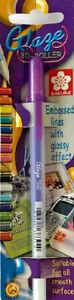 Sakura Glaze 3D Glossy Roller Pen Purple Embossed Lines XPGB824