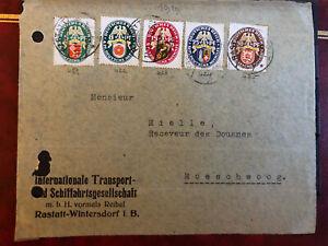 DR Landeswappen Briefhülle Vorderseite mit Mi - Nr. 430 - 434 .