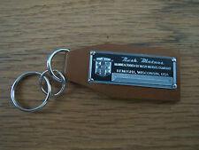 Nash Data Plate Leather Keychain Metropolitan Frazer Ambassador Coupe Rambler