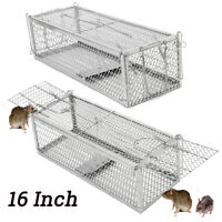 Rat Catcher Metal Mouse Spring Cage Trap Humane Catcher Rodent Indoor Outdoor