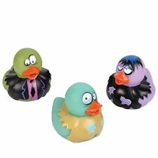 3 Count Zombie Style Rubber Ducks 2 Inches Tall Toy Prank Gag