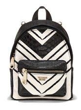 Victorias Secret Mini Backpack WICKED MINI CITY GOLD BLACK & WHITE - NEW