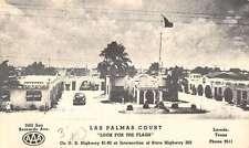 Laredo Texas Las Palmas Court Birdseye View Vintage Postcard K36485