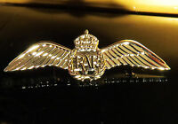 WINGS RAF Insignia Badge Medal Brevet Aircrew Pin SILVER Wings for Pilots 60mm