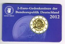 GERMANY DUITSLAND COINCARD 2 EURO 2012 10 JAHRE EURO BARGELD  letter A