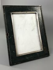 More details for victorian silver & leather photograph frame awc london 1894 dzx