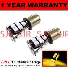 382 1156 BA15s XENON AMBER 21 SMD LED FRONT INDICATOR LIGHT BULBS X2 FI201701