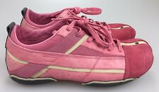 Diesel Kimura Fashion Sneakers Pink Suede Leather Lace Up Women's Size 10 Shoe