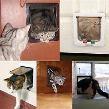 Pet door 4 way locking Small Medium Dog Cat Flap Magnetic White Frame Pop Classy